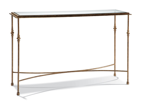 CTH-Sherrill Occasional - Aged Gold Console Table - M29-10