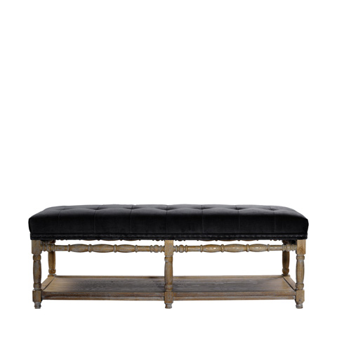 Curations Limited - Napa Velvet Bench - 7801.1105