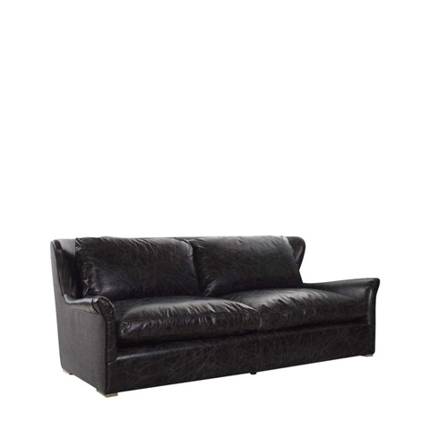 Curations Limited - Winslow Leather Sofa with Wool Back - 7842.3106