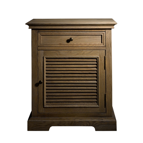 Curations Limited - Britania Shutter Bedside Table - 8810.1152