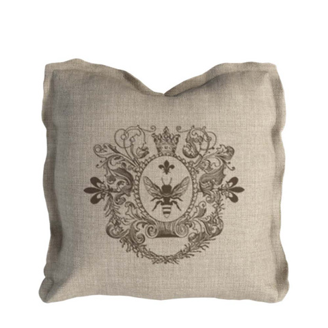 Curations Limited - Beige Beige Logo Pillow - 1200.0001