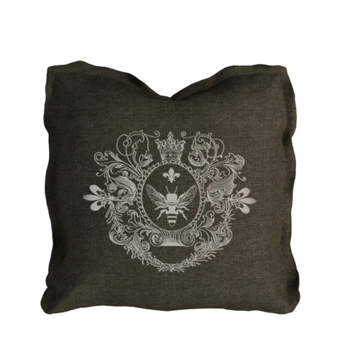 Curations Limited - Brown Beige Logo Pillow - 1200.0002