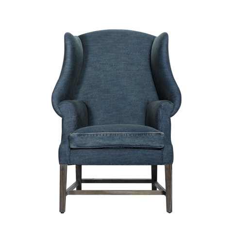 Curations Limited - Denim New Age Chair - 7841.0002