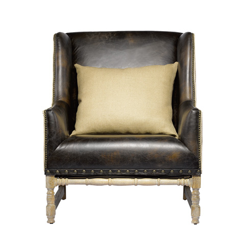Curations Limited - Antwerpen Leather Armchair - 7841.0008.HGLV
