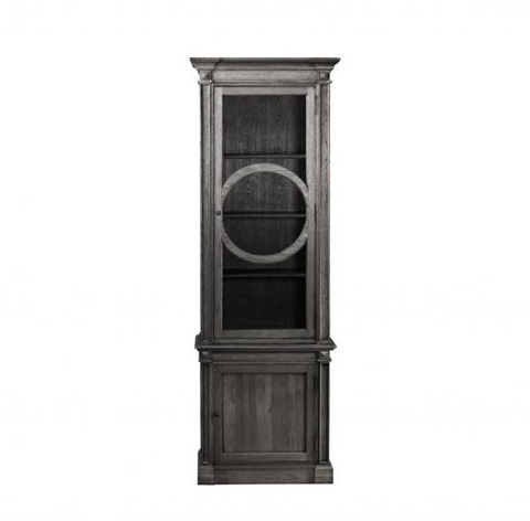 Curations Limited - Grey French O-Style Cabinet - 8810.0006.E628