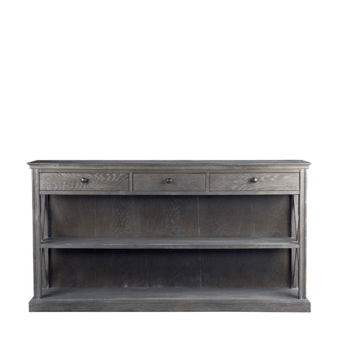 Curations Limited - Grey French Casement Console - 8810.1141.E628