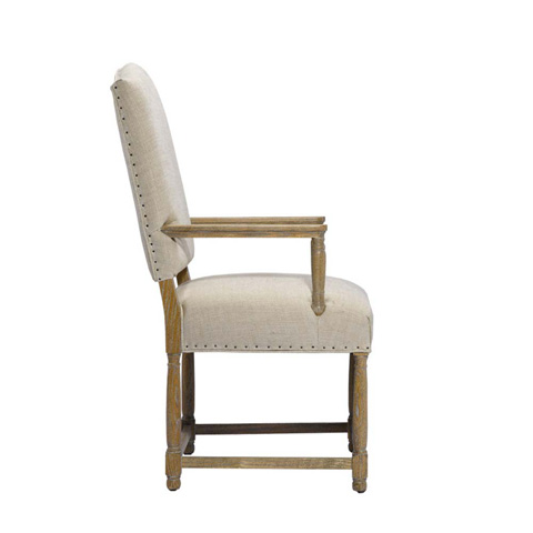 Curations Limited - Beige Eduard Arm Chair - 8826.0018.A015