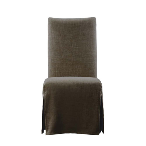 Curations Limited - Brown Flandia Slip Skirt Chair - 8826.1003.A008