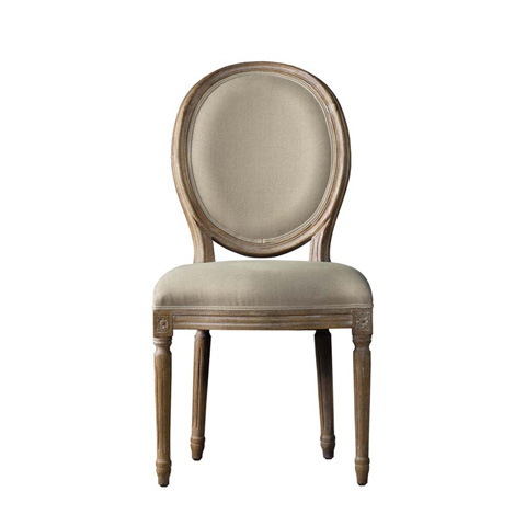 Image of Beige Vintage Louis Round Side Chair