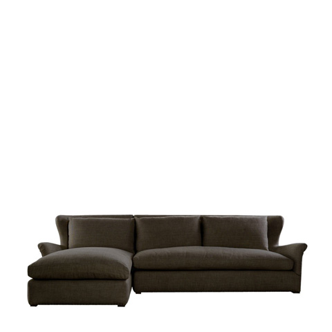 Curations Limited - Brown Linen LAF Winslow Sectional - 7843.3102.LAF