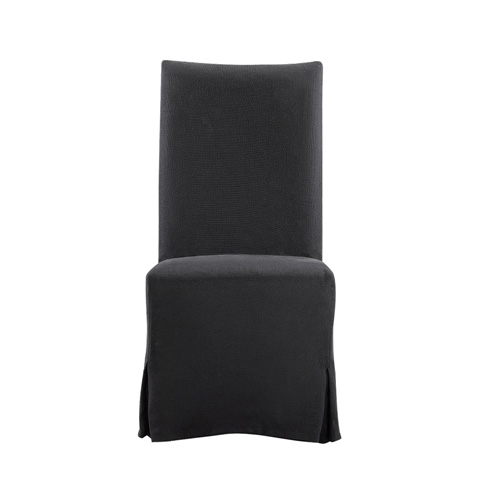 Curations Limited - Flandia Black Slip Covered Chair - 8826.1102