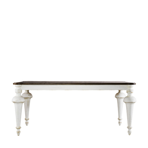 Curations Limited - Small Old Milton Vintage White Table - 8831.2207.S