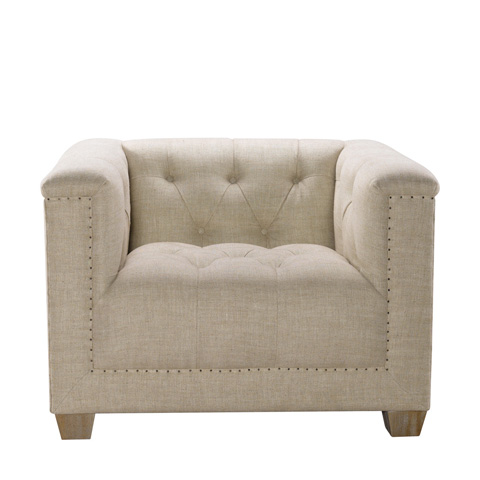 Curations Limited - Bergamo Linen Club Chair - 7841.0035.A015