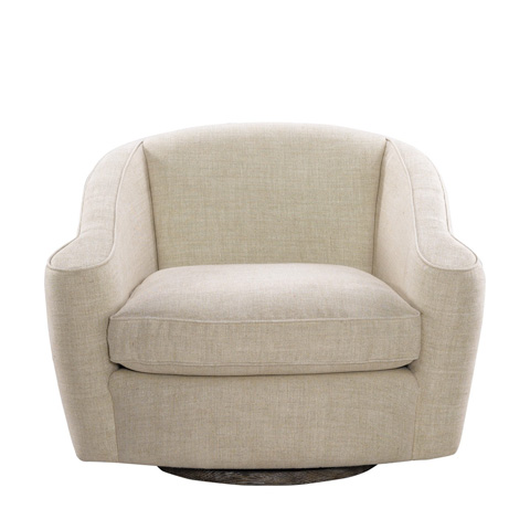 Curations Limited - Bell Linen Swivel Chair - 7841.0041.A015