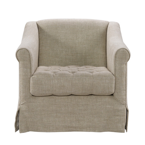 Curations Limited - Brussels Linen Club Chair - 7841.0046.A015