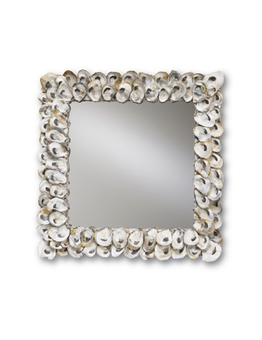 Currey & Company - Square Oyster Shell Mirror - 1348