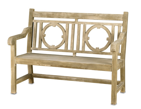 Currey & Company - Small Leagrave Bench - 2385