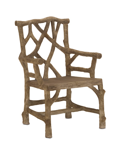 Currey & Company - Woodland Arm Chair - 2706