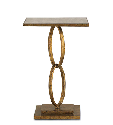 Currey & Company - Gold Leaf Bangle Table - 4095