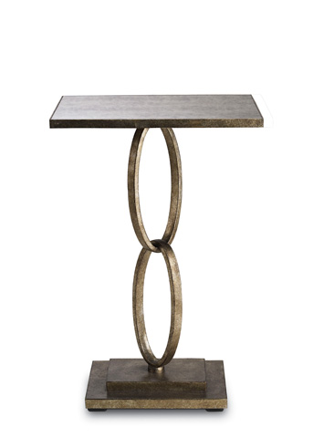 Currey & Company - Silver Leaf Bangle Table - 4096