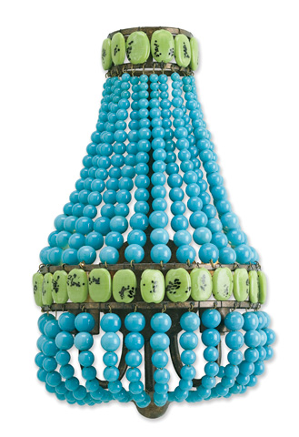 Currey & Company - Turquoise Lana Wall Sconce - 5087