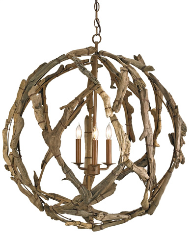 Currey & Company - Driftwood Orb Chandelier - 9078