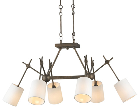 Currey & Company - Compass Rectangular Chandelier - 9465