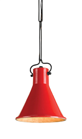 Currey & Company - Red Rooke Pendant - 9786
