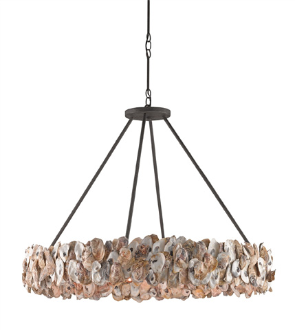 Currey & Company - Oyster Circle Chandelier - 9672