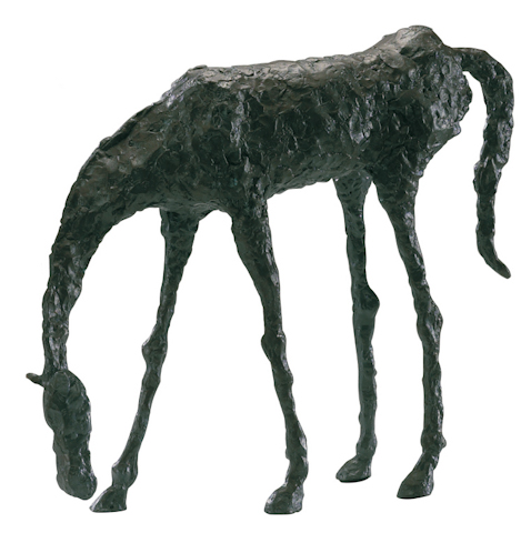 Image of Grazing Horse Sculpture