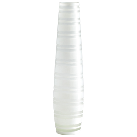Cyan Designs - Large White Matte Stripe Vase - 01675