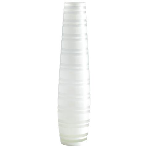 Image of Large White Matte Stripe Vase