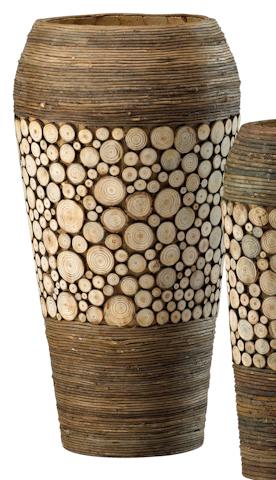 Cyan Designs - Wood Slice Oblong Vase - 02520