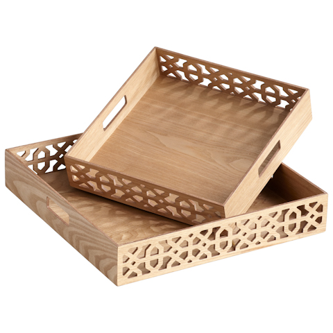 Cyan Designs - Square OXO Trays - 05224
