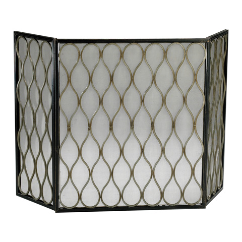 Cyan Designs - Gold Mesh Fire Screen - 02003