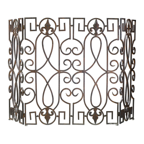 Image of Wrought Iron Fire Screen