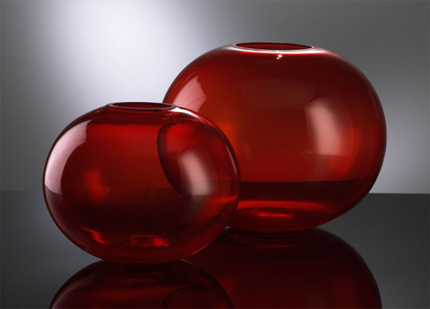 Cyan Designs - Small Red Pod Vase - 00971