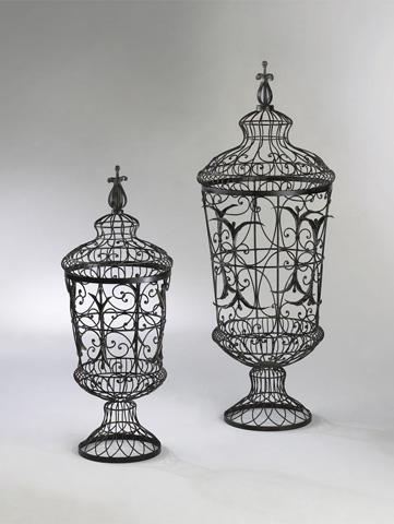 Cyan Designs - Brocade Urns Two Piece Set - 01630
