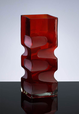 Cyan Designs - Small Ruby Etched Vase - 01823