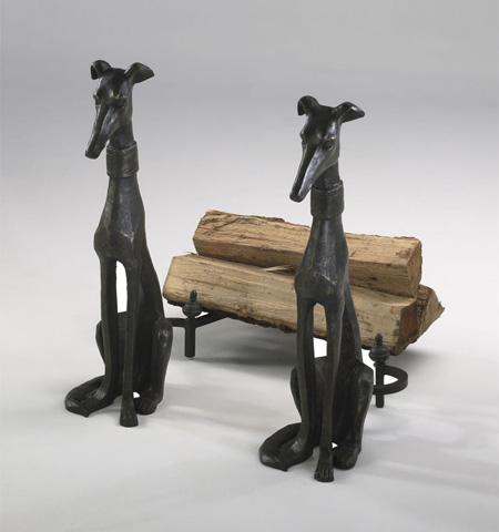 Cyan Designs - Dog Andirons - 01855