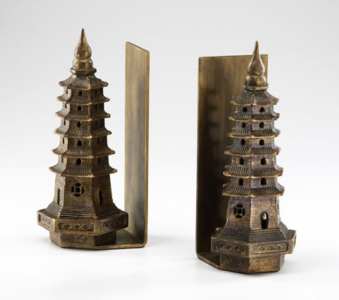 Cyan Designs - Pagoda Bookends-Two Pieces - 02270