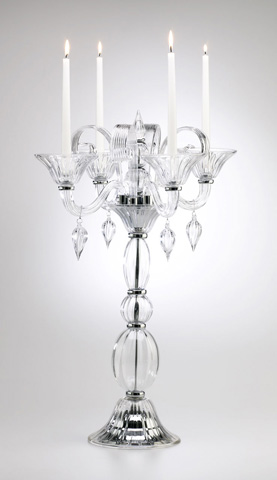 Cyan Designs - Clear Glass Table Candleholder - 02666