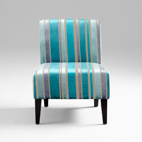 Cyan Designs - Ms. Stripy Blu Chair - 05267