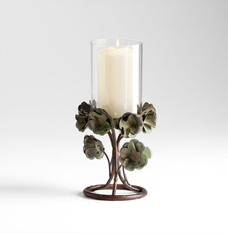 Cyan Designs - Small Leigh Green Rose Candleholder - 05323