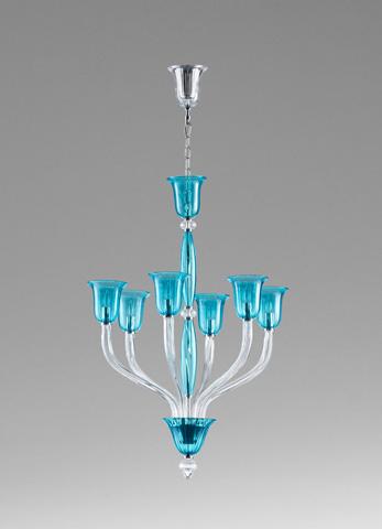 Cyan Designs - Vetrai Six Light Chandelier - 05390