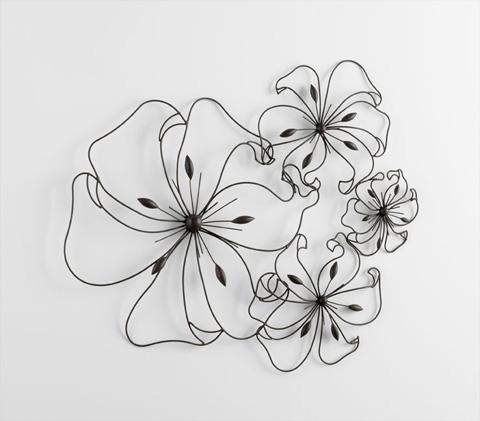 Cyan Designs - Fancy Flower Wall Art - 05832