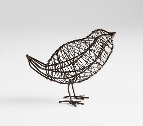Cyan Designs - Large Bird On a Wire Sculpture - 05837