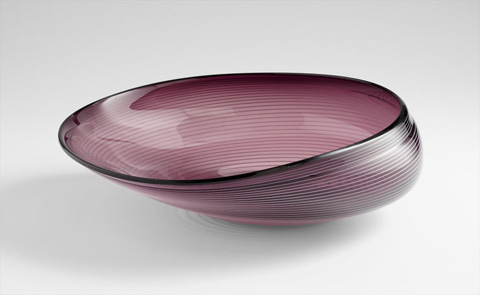 Cyan Designs - Large Purple Oyster Bowl - 05860