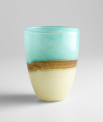 Image of Medium Turquoise Earth Vase