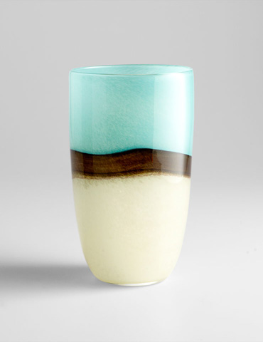 Image of Large Turquoise Earth Vase
